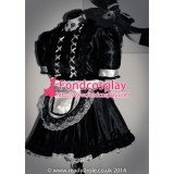 French Lockable Sissy Maid Satin Dress Uniform Cosplay Costume Tailor-Made[G1505]