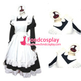 French Sexy Sissy Maid Cotton Lockable Dress Uniform Cosplay Costume Tailor-Made[CK761]