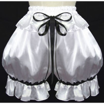 French Sexy Sissy Maid Blue Satin Dress Lockable Uniform Cosplay Costume Custom-Made[G588]