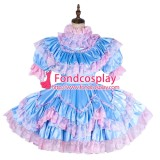 French Lockable Sissy Maid Satin Uniform Cosplay Costume Tailor-Made[G1992]