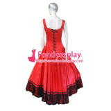 O Dress The Story Of O With Bra Red Satin Dress Cosplay Costume Tailor-Made[G190]