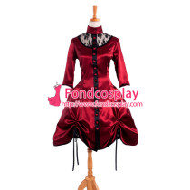 Victorian Rococo Medieval Gown Ball Dress Gothic Satin Cosplay Costume Tailor-Made[G914]