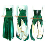 O Dress The Story Of O With Bra Green Satin Dress Cosplay Costume Tailor-Made[G224]