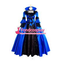 Victorian Rococo Medieval Gown Ball Outfit Gothic Punk Satin Dress Cosplay Costume Tailor-Made[G982]