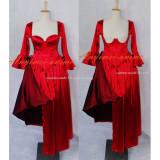 Sexy Gothic Lolita O Dress The Story Of O With Bra Satin Maid Dress Cosplay Costume Custom-Made[G610]