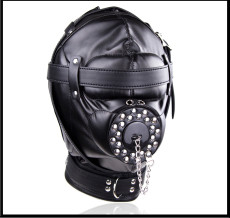Fully enclosed fun mask hood adult sm alternative master slave training torture