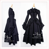 Gothic Lolita Punk Ball Medieval Gown Victoria Dress Cosplay Costume Tailor-Made[G435]