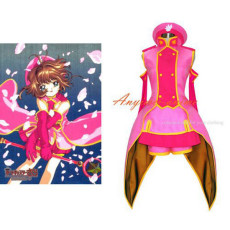 Cardcaptor Sakura-Kinomoto Sakura Dress Outfit Cosplay Costume Tailor-Made[G378]