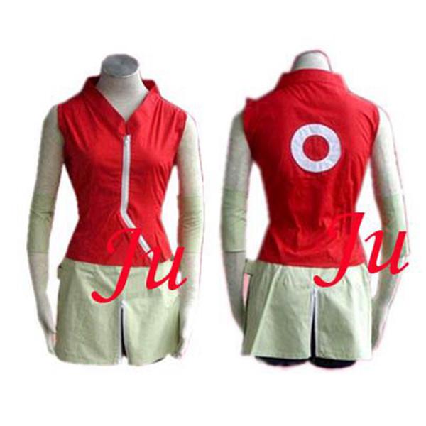 Naruto Haruno Sakura Cotton Dress Costume Cosplay Tailor-Made[CK158]