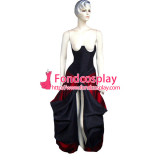 O Dress The Story Of O With Bra Black Red Tafetta Dress Cosplay Costume Tailor-Made[G243]