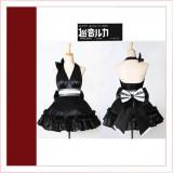Vocaloid2 Megurine Luka Black Dress Cosplay Costume Tailor-Made[CK1358]