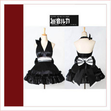Vocaloid2 Megurine Luka Black Dress Cosplay Costume Tailor-Made[CK1358]