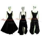 O Dress The Story Of O With Bra Black Satin Dress Cosplay Costume Tailor-Made[G249]