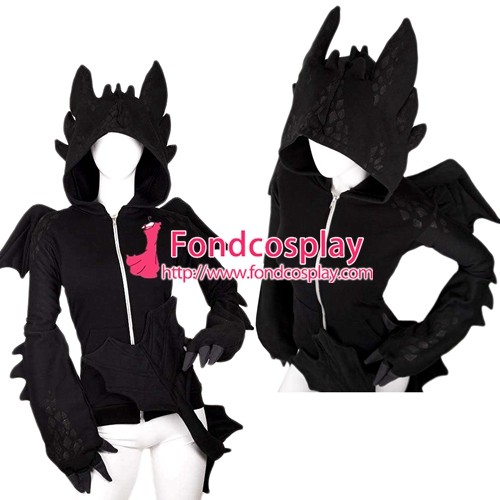 How To Train Your Dragon-Nightfury Toothless Dragon Hoodie Movie Costume Tailor-Made[G1385]