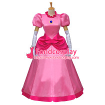 Super Mario Bros Dress Peach Princess Dress Cosplay Costume Custom-Made[G583]