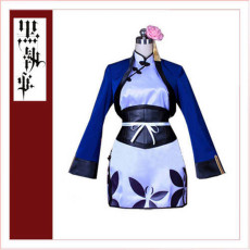 Black Butler Kuroshitsuji Lao Ran-Mao Coat Dress Cosplay Costume Tailor-Made[CK1357]