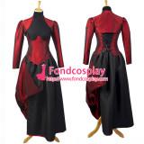 Sexy Gothic Lolita O Dress The Story Of O With Bra Satin Maid Dress Cosplay Costume Custom-Made[G746]