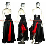 O Dress The Story Of O With Bra Black Red Satin Dress Cosplay Costume Tailor-Made[G222]