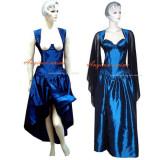 O Dress The Story Of O With Bra Blue Taffeta Dress Cosplay Costume Tailor-Made[G315]