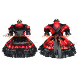 Sexy Sissy Maid Satin Red Dress Lockable Uniform Cosplay Costume Tailor-Made[G359]