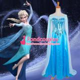 Princess Elsa Dress From For Girls Children Movie Cosplay Costume Custom-Made[G1225]