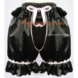 Black Gothic Lolita Punk Bloomers Satin Pants Have A Bowknot Cosplay Costume Custom-Made[G592]