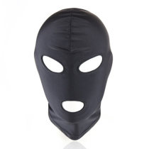 Fun games Black Piece Sexy Head Mask Slave Open Mouth SM Bondage Kinky