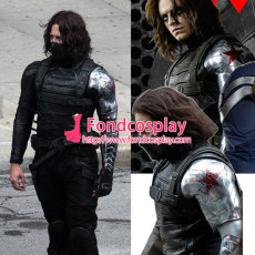 Captain America The Winter Soldier James Outfit Cosplay Costume Tailor-Made[G1292]