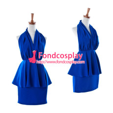 Lovely Lolita Blue Backless Dress Cosplay Costume Tailor-Made[G942]