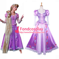 Tangled Rapunzel Dress Movie Costume Cosplay Tailor-Made[G823]