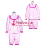 lockable PVC vinyl blouse +pants pajamas Unisex tailor-made[G3908]