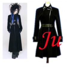 Visual J-Rock Balck Wool Coat Gothic Punk Dress Cosplay Costume Tailor-Made[CK416]