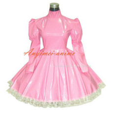 Gothic Lolita Punk Pink Pvc Dress Tailor-Made[G270]