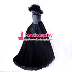Visual J-Rock Balck Wedding Dress Gothic Punk Cosplay Costume Tailor-Made[CK420]