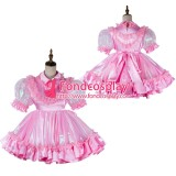 Lockable Adult Baby Dress Satin-Organza Dress Outfit Tailor-Made[G2019]