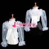 Organza Blouse Transparency Shirt Costume Tailor-Made[G1626]
