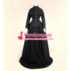 Victorian Rococo Medieval Gown Ball Dress Gothic Linen Cosplay Costume Custom-Made[G842]