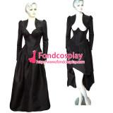 O Dress The Story Of O With Bra Black Taffeta Dress Cosplay Costume Tailor-Made[G311]
