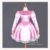 Gothic Lolita Punk Pink Satin Dress Tailor-Made[G373]