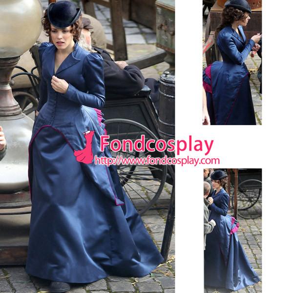 Sherlock Holmes A Game Of Shadows Irene Adler Dress Movie Cospaly Costume Custom-Made[G918]