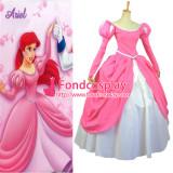 Beautiful Pink Princess Ariel Dress Cosplay Costume Custom-Made[G904]