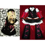 Japan An Cafe Bou Outfi Visual J-Rock Outfit Dress Cosplay Costume Tailor-Made[G330]