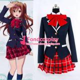 Demo Koi Ga Shitai! Shinka Nibutani School Uniform Red Tie Cosplay Costume Tailor-Made[G863]