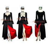 O Dress The Story Of O With Bra Black Satin Dress Cosplay Costume Tailor-Made[G383]
