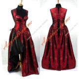 Sexy Gothic Lolita O Dress The Story Of O With Bra Satin Maid Dress Cosplay Costume Custom-Made[G630]