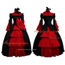 Medieval Gown Gothic Lolita Punk Ball Gown Dress Cosplay Costume Custom-Made[G496]