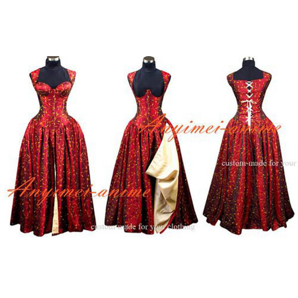 O Dress The Story Of O With Bra Gothic Punk Tafetta Dress Cosplay Cosume Tailor-Made[G493]