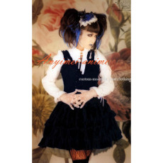 Visual J-Rock Balck Dress Gothic Punk Cosplay Costume Tailor-Made[CK916]