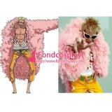 One Piece Donquixote Doflamingo Jacket Coat Gown Cosplay Costume Tailor-Made[G1334]