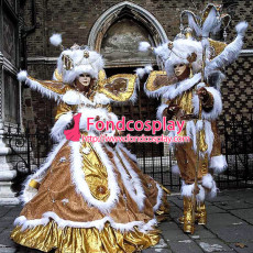 Carnival Of Venice Traditional Italian Clothing Cosplay Costume Custom-Made[G945]